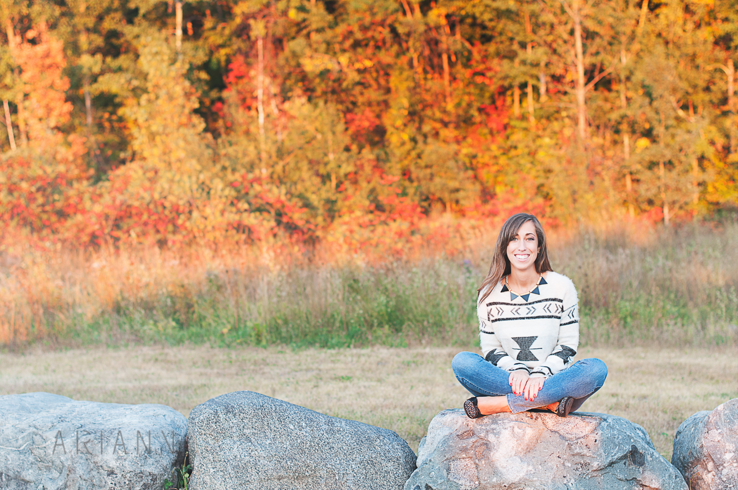 colorful fall photo session